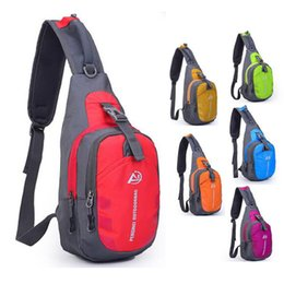 chest pouches UK - Oxford Chest Bag Outdoor Sport Travel Hiking Shoulder Sling Backpack Pouch Functional Fanny Bags Waist Packs