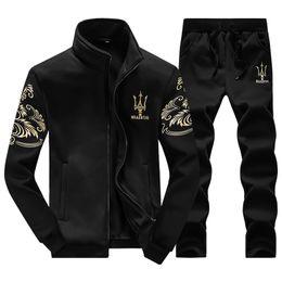 Male Fashion Suits Australia - Wholesale -Sport Suit Men Winter Tracksuits Brand Casual Sweatshirt Male Leisure Outdoor Men Sport Suits Fashion Brand Hoodie Mens