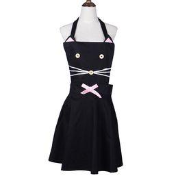 3fd67dbfc17 Korean fashion apron online shopping - Korean Cat Cartoon Apron Kitchen Cotton  Apron For Woman Coffee