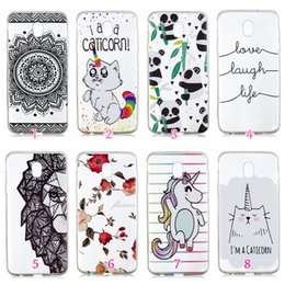 Discount banana phone cover - For Galaxy (J2 PRO J3 J4 J6 J7 A6 Plus) 2018 Flower Soft TPU Case Fruit Panda Banana Butterfly Flamingo Marble Unicorn C