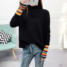 $enCountryForm.capitalKeyWord NZ - Striped Knitted Pullover Sweater Fashion Pull Ladies Cotton Elegant Pullovers Tops Long Sleeve Knitwear 2018 Pull Femme Hiver C18110801