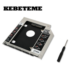 Wholesale KEBETEME quot mm SATA nd HDD SSD Hard Drive Caddy Adapter For MacBook Pro Unibody A1278 A1286 A1297 CD ROM Optical Bay