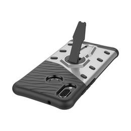 Shockproof Case Phone NZ - mobile cell phone Sniper Hybrid Robot Armor ShockProof 360 Kickstand Back Soft Case Cover For huawei P20 lite