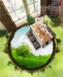 Modern Tiles For Kitchen NZ - custom 3d floor wall mural modern kitchen 3d wallpaper vinyl pvc 3d floor tiles Green earth plant wallpaper