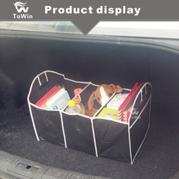 storage car trunk organizers Australia - Multi Foldable Storage Box Waterproof Dust Proof Non Woven Fabric Cars Interior Accessories Save Space Car Trunk Organizer.