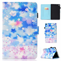 tablet kindle hd 2019 - PU Leather Case For Amazon Kindle Fire HD 8 2016 8.0 inch Cover Fundas Tablet Fashion Painted Skin Flip Stand Shell