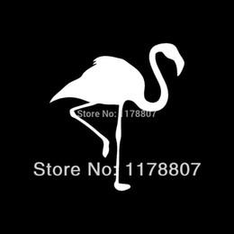 $enCountryForm.capitalKeyWord Australia - HotMeiNi Wholesale 20pcs lot Flamingo Sticker For Car Rear Windshield Truck SUV Bumper Auto Door Laptop Kayak Canoe Art Wall Bird