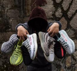 quality design d2d2f 116a7 Adidas Yeezy 350 De alta calidad de aceite de sésamo amarillo hielo 36-46  350 v2 zapatos de diseñador Sply blanco negro 350 hombres y mujeres  corriendo ...