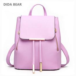 $enCountryForm.capitalKeyWord NZ - chool bags for teenagers DIDA BEAR Women Backpack High Quality PU Leather Mochila Escolar School Bags For Teenagers Girls Leisure Backpac...