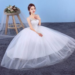d695912cdc2 HOT Chinese Lace Wedding Dress A line sheer Neck Emboridery Flower Beaded  Flower Plus Size Wedding Dresses Tulle ball Gown Floor length W47