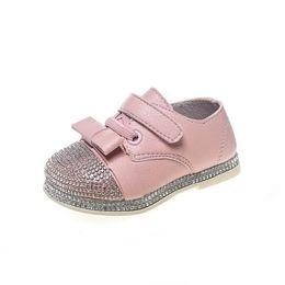 $enCountryForm.capitalKeyWord UK - GENKNK 2018 Spring Baby Girls New Fashion Bow-tie Casual Shoes Toddler Rhinestones First Walker Children Black Soft Flats