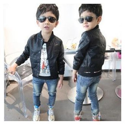 $enCountryForm.capitalKeyWord Canada - New 2017 Fashion Boys Jackets Skull Print Faux Leather Kids Coats for Boys Spring Autumn 2 3 4 5 6 7 Year Childrens Outwear