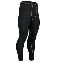 Wholesale compression wear for sale – plus size Fitness Clothing Sport Sexy Youth Compression Lycra Tights for Men s Running Basketball Outdoor Wear Pants S xl size