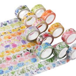 Wholesale Cute Kawaii Plants Flowers Japanese Masking Washi Tape Decorative Adhesive Tape Decora Diy Scrapbooking Sticker Label Stationery