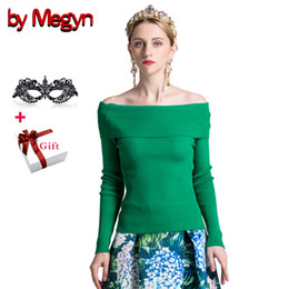 1a00d9d76cc by Megyn women pullover sweater sexy off shoulder elastic bodycon winter knitted  sweater female christmas party jumper sweaters