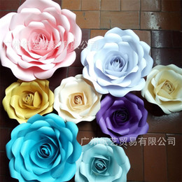 Color Cardboard online shopping - Thickening Cardboard Paper Flower Wedding Ceremony Decoration Rose D Display Window Manual Flowers Party Supplies Pure Color zy3 bb