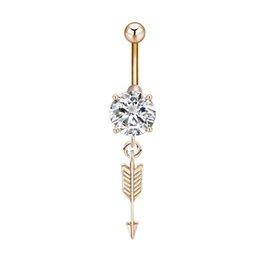 Fashion Sexy Navel Nail Rhinestone Anchors Rudder Pendant Navel Ring Body Piercing Women Jewelry Home