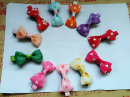$enCountryForm.capitalKeyWord Australia - Free Shipping Baby Toddler Girls Hair Clips Ribbon Bow Kids Strawberry Satin Bowknot Hairpin 6 Colors TY1425