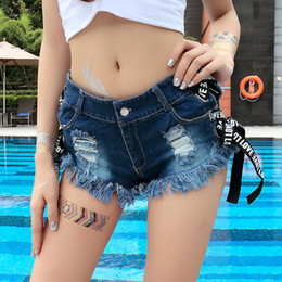 sexy black women booty NZ - Vintage Sexy Bikini Beach Women Jean Booty Shorts Feminino Low Waist Summer Micro Skinny white Blue Black Denim Shorts Clubwear