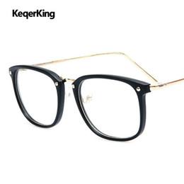 China Man Computer Eyeglasses Fashion Square Glasses Frame Women Myopia Optical Frames Vintage Rimless Reading Eye Glasses gafas de cheap rimless eyeglass frames wholesale suppliers