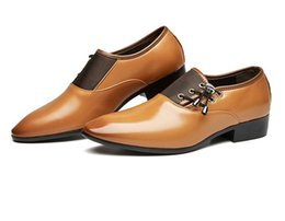 brown casual dress shoes for men 2019 - lus Size 38-48 Men Dress Shoes Classic Business Office Oxford Shoes For Men 2018 New Casual British Style Man Flats XP-2