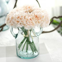 Discount bridal bouquet pink - Peony Artificial Fowers Bridal Bouquet Wedding Bouquets Silk Flower for Home Party Wedding Garden Decoration 5pcs bunch