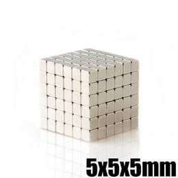 Neodymium Magnet Wholesale NZ - Neodymium Magnet Cube 5mm N35 Permanent NdFeB Super Strong Powerful Magnetic Magnets Square Buck Cube 50Pcs 5x5x5