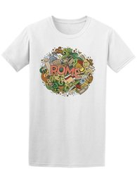 $enCountryForm.capitalKeyWord UK - Rome Italy Cartoon Cute Doodle Men's Tee -Image by Shutterstock Cute Tatoo Lover T-Shirt Mens Hipster Short Sleeve Tee Tops