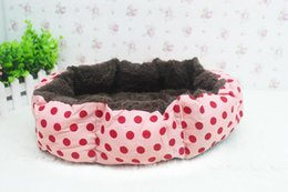 wholesale house products 2019 - Wholesale cute Pet Products Soft Fleece Pet Bed for Cats Dogs camas para perros pequenos Small Animals Bed House Kennel
