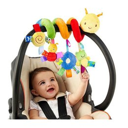 baby snail toys NZ - Newborn Baby Stroller Toys Lovely Snail Baby Bed Hanging Toys Educational Baby Rattle Toys WJ414