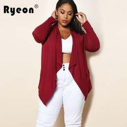 Xl Cardigans NZ - Ryeon Knitted Cardigan Female Autumn Winter Sweater Women Elastic Jumper Black Wine Red Casual Pull Outerwear Short Coat Xl XXXL