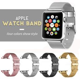 4 цвета из нержавеющей стали ремешок для Apple Watch 42 мм 38 мм смарт-металлический браслет Браслет для iWatch серии 1 2 3