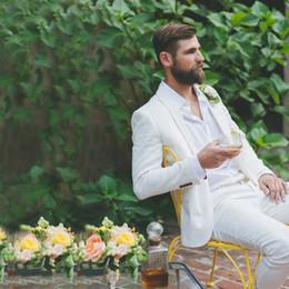 Plus Size Linen Suit NZ - Custom White Linen Men Suits Beach Mens Wedding Suits Groom Groomsmen Gray Blazer Slim Fit Groom Tuxedo Bridegroom 2 Pieces Jacket Pants