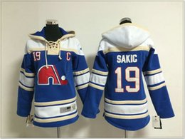 Team Hockey Uniforms NZ - Quebec Nordiques #19 Joe Sakic Womens Vintage Ice Hockey Shirts Uniforms Sweaters Hoodies Stitched Embroidery Cheap Sports Pro Team Jerseys