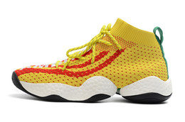 online retailer 88289 4030a Mens Basketball Shoes Crazy BYW Basketball Boost PW Sports Sneakers Man LVL  1 Pharrell Williams Trainers You Wear All-Star Weekend budget sport shoes  men ...