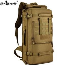 32490fc5dc771 SINAIRSOFT Hot 50L Tactical Rucksack Camping Taschen Outdoor Sport Klettern Tasche  Herren Radfahren Wandern Rucksack Reise Camouflage Laptop Rucksack
