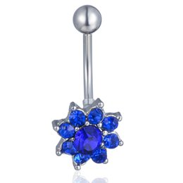 $enCountryForm.capitalKeyWord Canada - D0340-3 ( 4 colors ) Nice style Navel Belly ring 10 pcs DK.BLUE and red ,pink clear stone drop shipping factory price