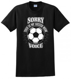 8d731fba6b6 THIS IS MY SOCCER MOM VOICE MOTHER DAY FUNNY MENS TEE T-SHIRTFashion Men  Printed T Shirts