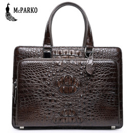 Wholesale Genuine leather men s bag briefcase crocodile skin Luxury alligator bags Black Brown briefcases LARGE CAPACITY