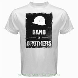 Vietnam White NZ - Hip Hop Novelty T Shirts Men's Brand Clothing Band Of Brothers War Vietnam Military Army Drama Series Tshirt White