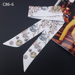 Magic Handle NZ - wholesale Europe the United States new floral simulation silk scarf summer sun protection variety magic tied bag handle ribbon female 5pcs