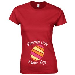 0fc5df4cf Mummy's Little Easter Egg (Girl) Ladies Fitted T-Shirt Funny Pregnancy Gift  Top