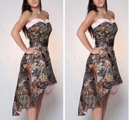 $enCountryForm.capitalKeyWord Canada - High- low Camo Bridesmaid Dresses Sweetheart 2018 New Sweetheart A Line Of Honor Gowns Formal Wedding Guest Dresses