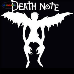 Discount bumper note - Wholesale Decals Car Styling Car Stickers Glass Scratches Wall Bumper Truck Jdm Death Note Devil and Angel Wings