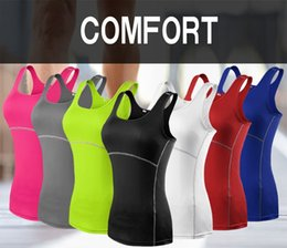 sexy white tight clothes NZ - New Yoga Tops Women Sexy Gym Sportswear Vest Fitness tight woman clothing Sleeveless Running shirt Quick Dry White Yoga Tank Top