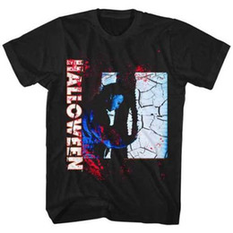 Michael Glasses Australia - Halloween Michael Myers Shattered Glass Adult T Shirt Great Classic Movie Print T Shirt Mens Short Sleeve Hot top tee