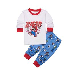 Chinese  New Toddler Boys Clothes Set r Kids Pajamas Sets Cartoon Woody Pijama Infantil Super Mario Bros Pijama 2pcs Suits manufacturers