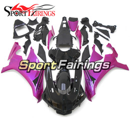 Yamaha R1 Pink Australia - Gloss Black Pink New Arrive Injection Full Fairings For Yamaha YZF1000 R1 2015 - 2016 15 16 ABS Plastic Motorcycle Bodywork Kit Cowling