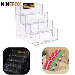 Clear plastic card boxes australia new featured clear plastic card 2018 four stairs pockets clear desktop name id card stand holder office counter plastic acrylic business card display holder box reheart Choice Image