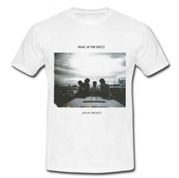 91c6e176e Panic! at the Disco Live in chicago American rock band T-shirt Tee S M L XL  2XLMen Streetwear T-Shirt